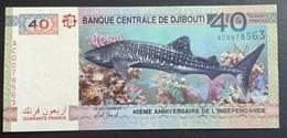 RS - Djibouti 40 Francs Banknote 2017 UNC Shark Whale - Djibouti