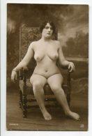 NU French Charm 007 Jean  AGELOU JA Série 91  Jeune Femme Nue  Assise Au Fauteuil    - EROTISME - Fine Nudes (adults < 1960)