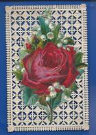 Image   Dentellée  Dégoupi  Rose   Année 1881 - Images Religieuses