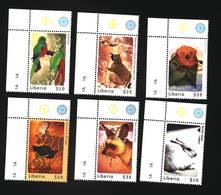 Liberia 2000 Animals Owl Ostrich Fox Hare Bird MI#3081-3086 I202005 - Liberia