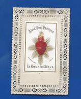 Image Religieuse      Dentellée   Le Coeur De Jésus - Andachtsbilder