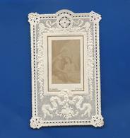 Image Religieuse      Dentellée   Jésus Et Marie   Année 1881 - Andachtsbilder