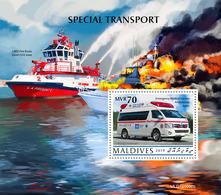 Maldives 2019  Special Transport (Emergency Medical Service Ambulance ) S202002 - Maldives (1965-...)