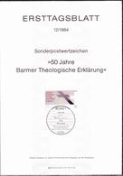 BRD FGR RFA - 50 Jahre Barmer Theologische Erklärung (MiNr: 1214) 1984 - ETB 12/1984 - BRD