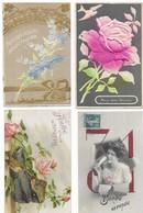 Fantaisies Gros Lot De 1000 CPA Fantaisies Femmes/Hommes/Enfants/Couples/Gauffrées/illustrations/Fètes... - Cartes Postales