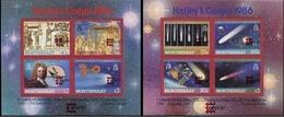 MONTSERRAT 1987 Halley's Comet Astronomy Perf.OVPT:Capex 87 Sheetlets:2 - Montserrat
