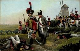 Artiste Cp Entscheidungsschlacht Vor Leipzig 18 10 1813, Napoleon Bonaparte - Militaria