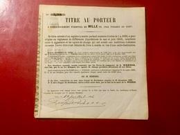 AGENT  DE  CHANGE  L.  WERNER  ---------Titre  De  1.000 Frs - Banque & Assurance