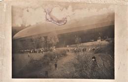 Très Rare Photo Carte Du Zeppelin Capturé à Serqueux Bourbonne Les Bains En 1917 - Bourbonne Les Bains