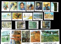 Sierra Leone 1991 Art Van Gogh Scott # 1365-1380 1382-1386 I202003 - Sierra Leone (1961-...)