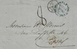 1850- Letter From Newcastle-on)Tyne   To   Paris - 1840-1901 (Viktoria)