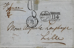 1865- Letter From  DUNDEE ( Scotland  )  To  Lille - 1840-1901 (Viktoria)