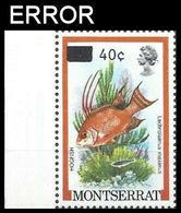 MONTSERRAT 1983 Fish Hogfish 70c On 10c/ MARG.ERROR:on Wrong Val. - Montserrat