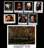 Nicaragua 1991 Art Van Gogh Scott # 1889 -1896 I202003 - Sierra Leone (1961-...)