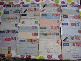 FRANCE - Archive De 28 Enveloppes Avec De Beaux Affranchissements Différents Des Années 30 Pour La Cochinchine - 1921-1960: Période Moderne