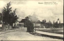SUEZ  Départ D'un Train - Suez