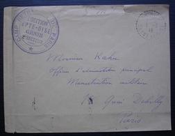 Arthies (Seine Et Oise) 1915 Cachet Tireté Et Cachet Camp Retranché De Paris Position Epte-Oise Génie 2ème Secteur - Postmark Collection (Covers)