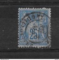 FRANCE  SAGE      N° 79  OBLITERE  1 Dent Courte - 1876-1898 Sage (Tipo II)