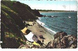 FR66 ARGELES SUR MER - Farre  1606 - Colorisée - - Le Racou - Plage Rocher Tente Campeurs - Animée - Belle - Argeles Sur Mer