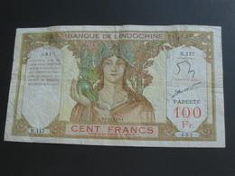 Recherché !!!!!  100 Francs  PAPEETE ( 1939-1965 ) Banque De L'Indochine   **** EN ACHAT IMMEDIAT **** - Papeete (Polinesia Francese 1914-1985)