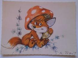 D171669 Fox Fuchs Renard  Vuk A Kisróka,  Vuk, The Fox Cub,  1981  Mushroom Hat  Cartoon  Hungary   Füzesi - Other