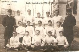 Cpa De Rugby, Les Joueurs De L'Ecole Supérieure De Dax, Carte-photo Ca 1910, Les Genêts, Carte-photo Ocana - Rugby