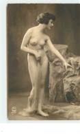 Jeune Femme Nue Debout Avec Un Voile - Fine Nudes (adults < 1960)
