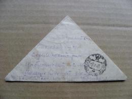 Triangle Cover Ussr Kazakhstan Balkhash Karaganda Region Sent To Lithuania - Kazachstan