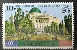 141.ANGUILLA (10C) 1976 STAMP UNITED STATES BICENTENNIAL , THE CAPITOL.  MNH - Anguilla (1968-...)