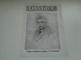 """Origineel Knipsel ( 2393 ) Uit Tijdschrift """" Ons Volk """"  1926 :   Brutsaert  Poperinghe   Poperinge  3 Blz. - Zonder Classificatie"""