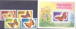 1982. Grenada, Butterflies, 4v + S/s, Mint/** - Grenada (1974-...)