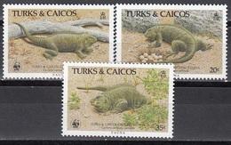 Turks & Caicos - WWF / REPTILES 1986 MNH - Anguilla (1968-...)