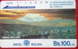 Entel Bs. 100 Ciudad De La Paz - Bolivië