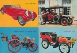 AUTO.  4 X Cpm 10x15  VIEUX TACOTS : Coupé RENAULT 1906 / BUGATTI 1937 / PANHARD-LEVASSOR 1895 / DARRACQ 1902 - Turismo