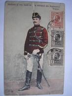 ROUMANIE - CPA -  Belle Carte D'un Militaire En Couleur Avec Un Bel Affranchissement De 1910 - Roumanie