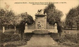 LABOUXCH E-MÉLEN- Monument élevè Aux Martyrs Fusilés  EERST WERELDOORLOG BELGIË BELGIQUE 1914/18 WWI WWICOLLECTION - Guerra 1914-18