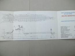 """Fascicule Porte-Conteneurs Roulier""""RO.RO.GENOVA"""" Chantier De France De Dunkerque (Nord ) 59 - Macchine"""
