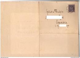 Trieste Vs Capodistria Slovenia Koper 1917 Annuncio Funebre Viaggiato Per Posta 3 Heller Francobollo - Briefe U. Dokumente