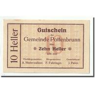 Billet, Autriche, Pottenbrunn, 10 Heller, Graphique, 1920, SPL - Austria