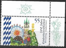 2012 Deutschland Allem. Fed. Mi. 2950 **MNH EOR 200 Jahre Gäubodenvolksfest, Straubing - [7] République Fédérale