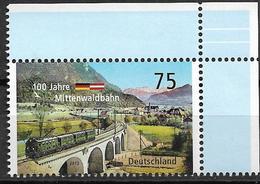2012 Allem. Fed. Deutschland  Mi. 2951**MNH  EOR  100 Jahre Mittenwaldbahn - [7] République Fédérale