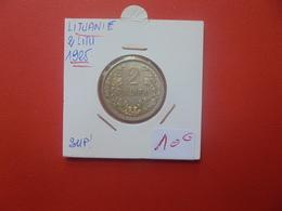 LITUANIE 2 LITU 1925 ARGENT (A.12) - Lituanie