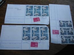 Lot 3 Cheque Accelere  Bande De 3 Timbre Poste Aerienne 5 Fr Daurat  Et Vanier - 1961-....