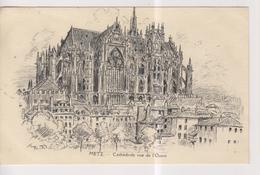 CPA-57-Moselle- METZ- Cathédrale Vue De L'Ouest- - Metz