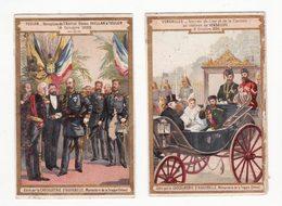 Chromo  AIGUEBELLE    Lot De 2     Arrivée Du Czar à Versailles, Amiral Russe à Toulon     10.4 X 6.7 Cm - Aiguebelle