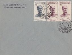 N° 309, 310 (Madagascar) Obl. St Paul Et Amsterdam 31 DEC 49, Courrier Du Sapmer + Ile Amsterdam Mission 1949-1950 - Franse Zuidelijke En Antarctische Gebieden (TAAF)