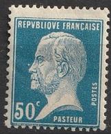 France 1923-26 N° 176  MH Pasteur   (F24) - 1922-26 Pasteur