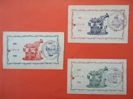 3 Bankbiljetten Noodgeld 1914 - 1918 Stad Ypres - Ieper - Yper   2 Frank - 5 Frank - 20 Frank 1914      ( 2 Scans ) - Belgium