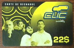 LIBAN CLIC DE CELLIS RECHARGE GSM 22$ EXP 31/05/2001 PHONECARD PAS TELECARTE PREPAID PRÉPAYÉE - Liban
