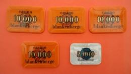 CASINO BLANKENBERGE 1 Maal 5.000 Frans En 4 Maal 10.000 FRANCS        ( 1 Scans ) - Casino